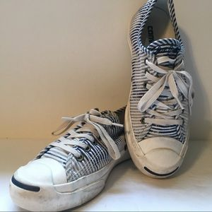 Converse Jack Purcell Blue & White Striped Tie-Dye